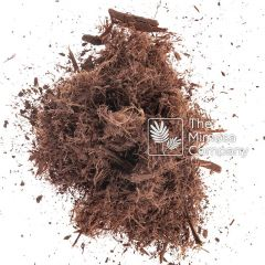 Finely shredded Mimosa hostilis root bark sold by The Mimosa Company