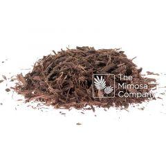 Coarse shredded Mimosa hostilis root bark sold by The Mimosa Company
